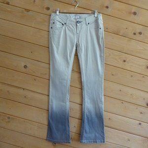 Free People Dip Dye Ombre Straight Jeans Beige 28